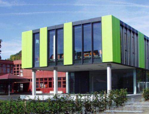 Realschule Mühlheim: Containerdorf in Betrieb