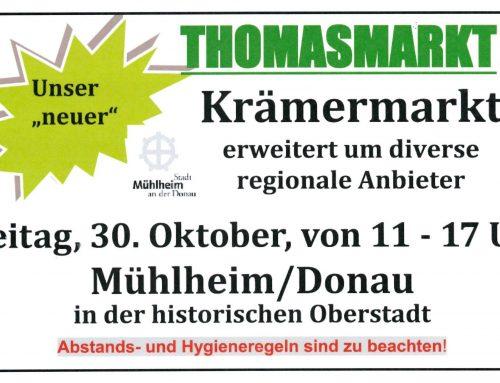 """Am Freitag, 30. Oktober Premiere für """"neuen"""" Thomasmarkt"""