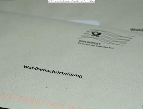 Briefwahl für Bundestagswahl und Bürgermeisterwahl am 26.09.2021 beantragen