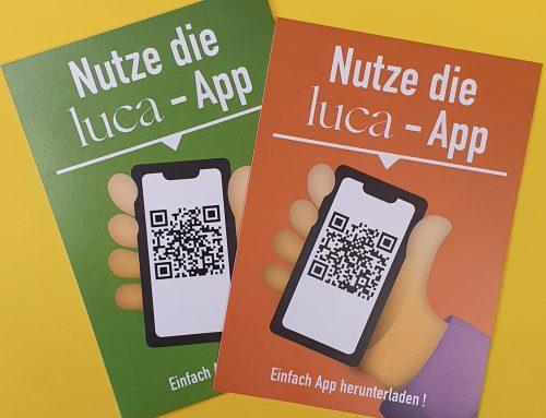 Wir nutzen die LUCA-App – Machen auch Sie mit!
